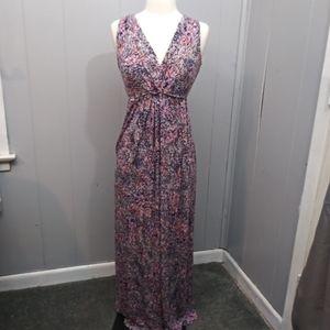 Motherhood Maternity Maxi Dress Abstract Floral S